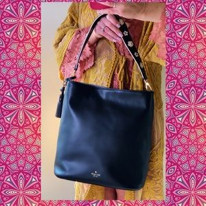 KATE SPADE TOTE WITH FLORAL HANDLE